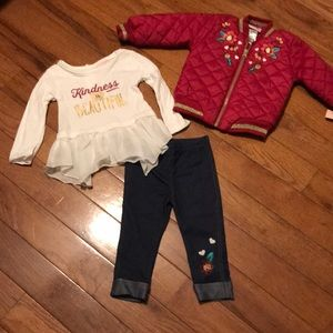 New With Tags Girls 18 months Outfit with Jacket